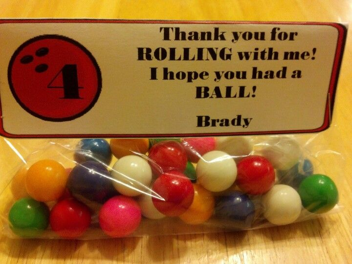 Bowling party favor