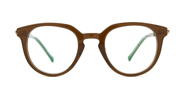 BIBLIO I A rounder look with a sharper top line. Key-hole bridge adds to the retro feel whilst the thin metal temple keeps the overall look feeling fresh and light. Shiny acetate in Dirty Olive.