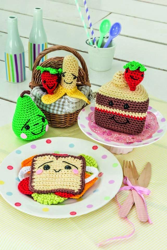 Amigurumi Barmy: Patterns sandwich, cake, fruit, food