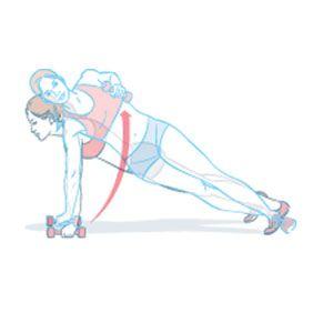 Get a Bikini Body That Rocks Dumbbell Side Plank Archer Rows