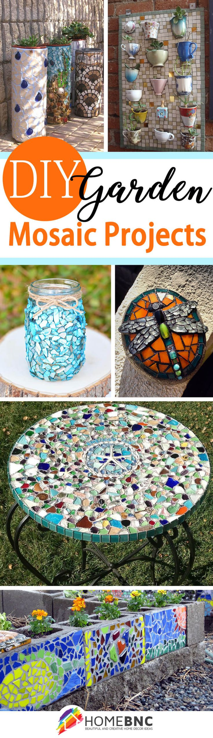DIY Garden Mosaic Ideas