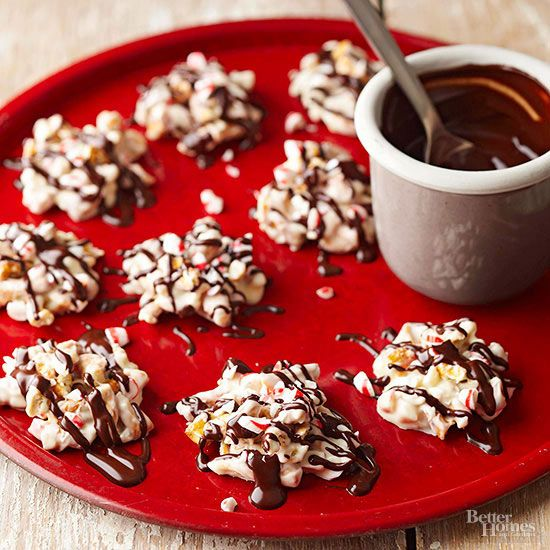 Peppermint Pretzel Candies. For delicious candy that comes together in a snap, combine pretzels, peppermint, and white chocolate in your slow cooker. This crunchy Christmas candy makes a sweet holiday gift idea. Christmas Candy Tip: Be sure to use the low-heat setting when cooking chocolate in a slow cooker, and watch carefully to avoid scorching./