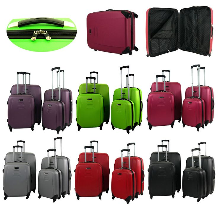 Coque Rigide Spinner 4 Roues Valise ABS Baggage Sac Trolley Cabine De Transport