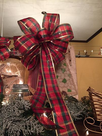 Plaid Ribbon Wreath