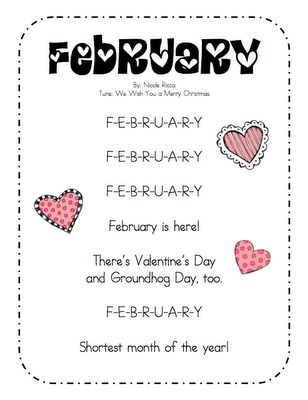 Great song to teach my little darlings how to spell February!