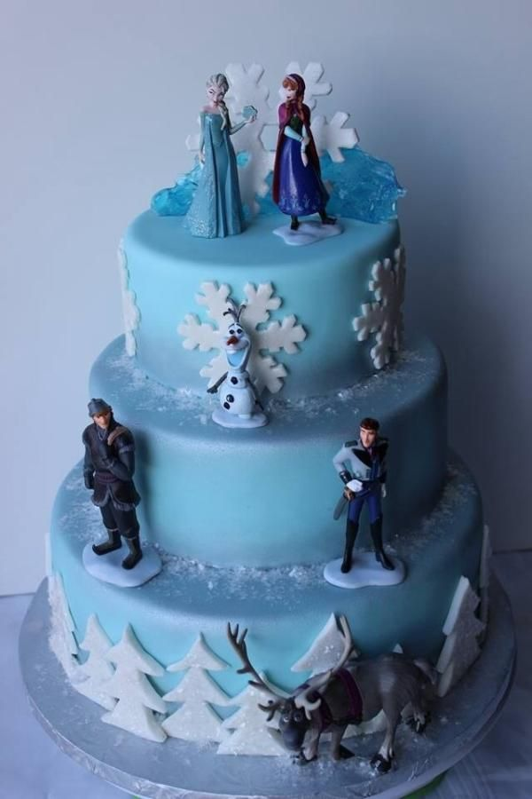 Frozen cakes I made, figures were provided See more of my cakes at www.facebook.com/SimplySweet.CustomCakes1