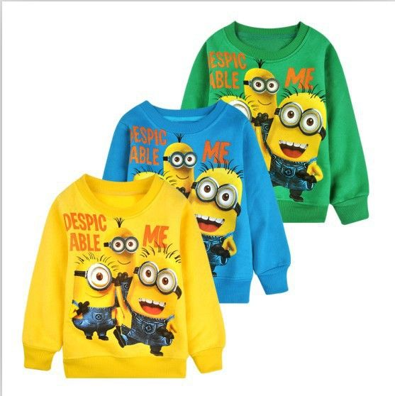 Find More Tees Information about [ Bear Leader ] 2014 New 1pcs baby boys girl Cartoon design round minion collar fleece  wear t shirts Children's clothes ATX014,High Quality Tees from Bear Leader---(bingley's) store on Aliexpress.com