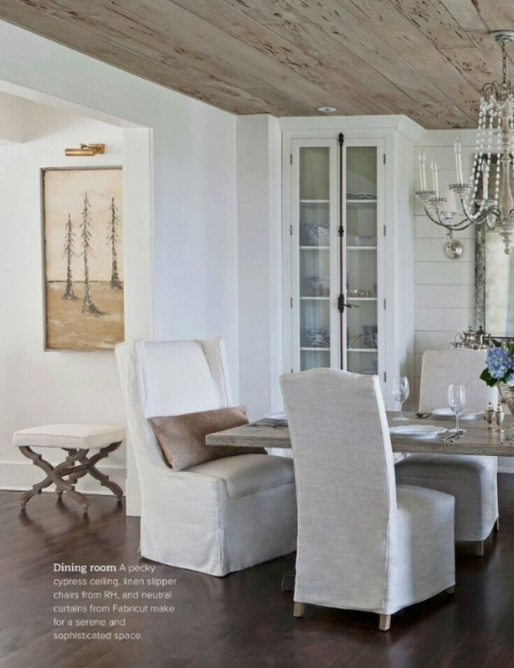 Calm And Earthy Neutral Dining Space