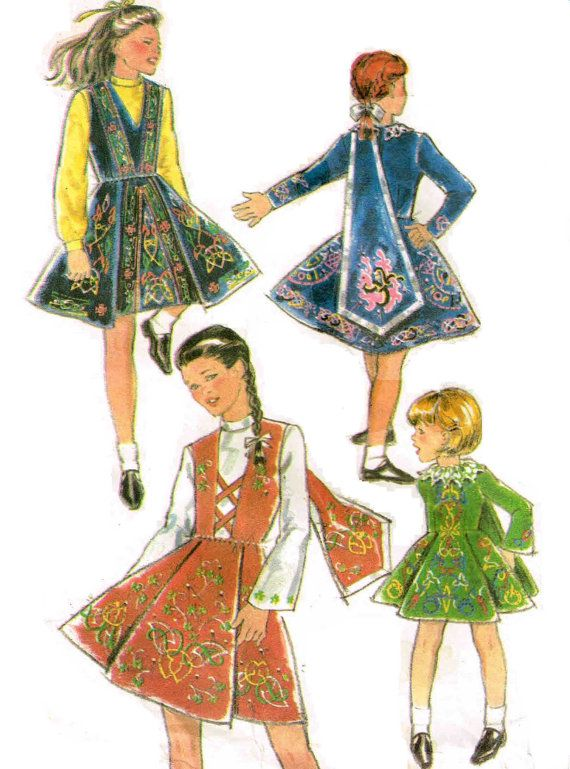 Danceworld 1 Ireland 0582 Irish Dance Sewing Pattern by Peoplepackages