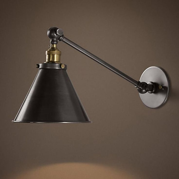 Double Arm Bedside Lamp Metal Restaurant Fixtures Wall Light Industrial Vintage Wall Lamps Simple style Wall Lights #BedsideLamp
