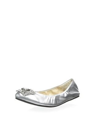 27% OFF Adrienne Vittadini Women's Viv Ballet Flat (Silver)