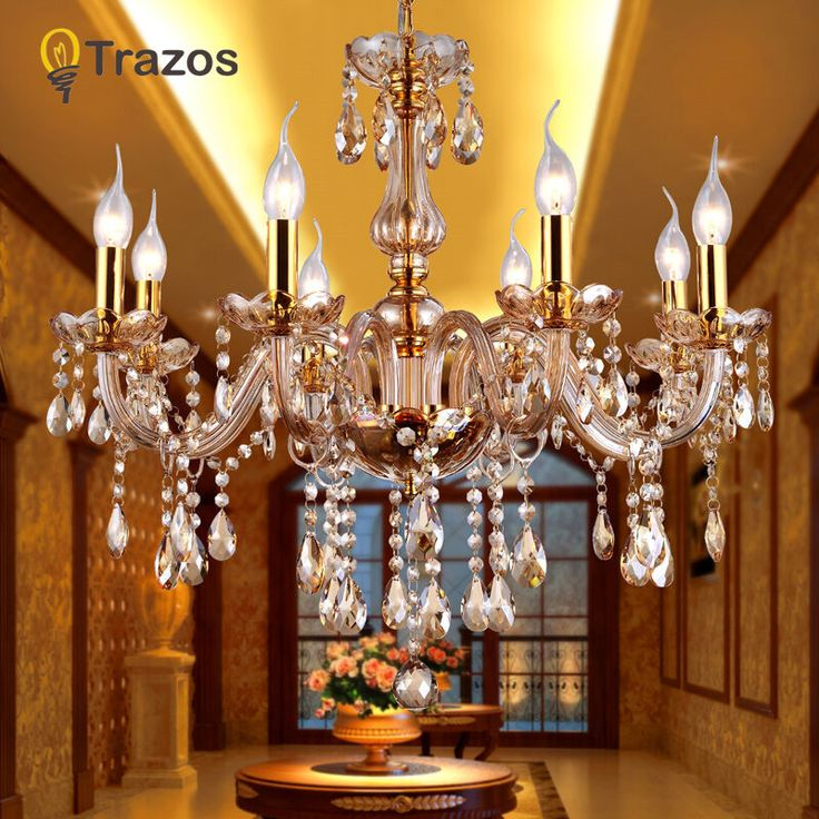 Crystal Ceiling Chandelier Home For Living Dining Room Lamp Indoor Home Decoration Bedroom Lights Cr-  Item Type: Chandeliers  Style: Modern  Shade Direction: Up & Down  Finish: Iron  Certification: CQC,CE,CCC  Features: Chandeliers  Model Number: 002  Voltage: 90-260V  Warranty: 3 years  Power Source: AC  Body Material: Glass  Shade Type: Shadeless  Switch Type: Touch On/Off Switch  Base Type: E14  Is Dimmable: No  Is Bulbs Included: Yes  Installation Type: Semiflush Mount  Light Source…