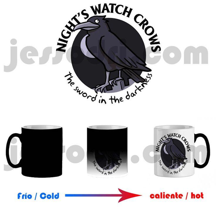 Taza mágica magica mug watch crows simpsons juego de game of tronos thrones