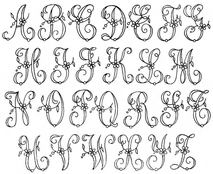 Free patterns - vintage embroidery alphabets