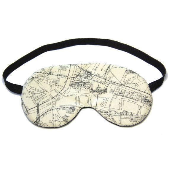 Parijs kaart Sleep Eye Mask slapende masker reizen door oddsnblobs