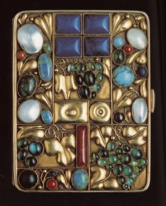 Vintage jewels - Joseph Hoffman, cigarette case 1912 (use for business cards vs. cigarettes)