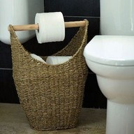 great idea for the men in my life that think it's ok to stack rolls of toilet paper on the back of the toilet.