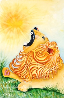 Higher Intuitions Oracle Deck Lion Roar Be Strong Sun
