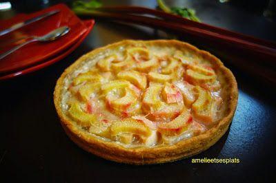Amélie et ses plats: Tarte à la rhubarbe (végétalienne, sans gluten)