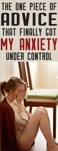 Anxiety SUCKS! This is the BEST ADVICE I have ever read for dealing with anxiety. You have to try this!