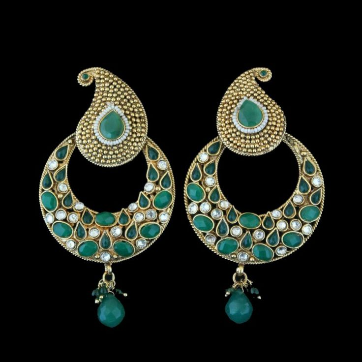 Affordable Handmade Indian Jewellery Online With Style Savita And Get Free Uk Delivery The Diya Green Stone Drop Earrings