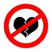 Broken_hearts : prohibition traffic sign meaning no broken hearts