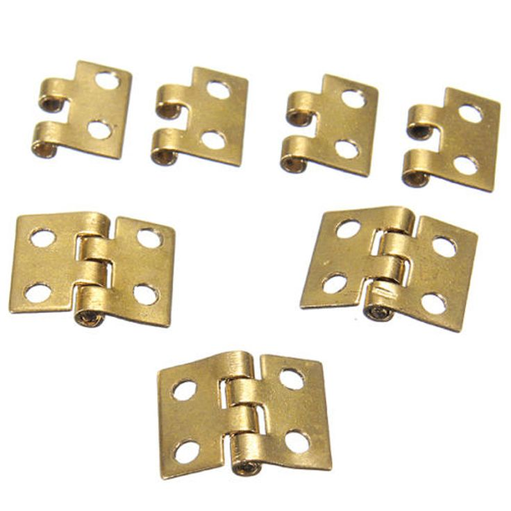 10pcs 8*10mm Gold Mini Small Hinge 1/12 Mini Cabinet Furniture Hinges Woodworking DIY Home Tools MAyitr