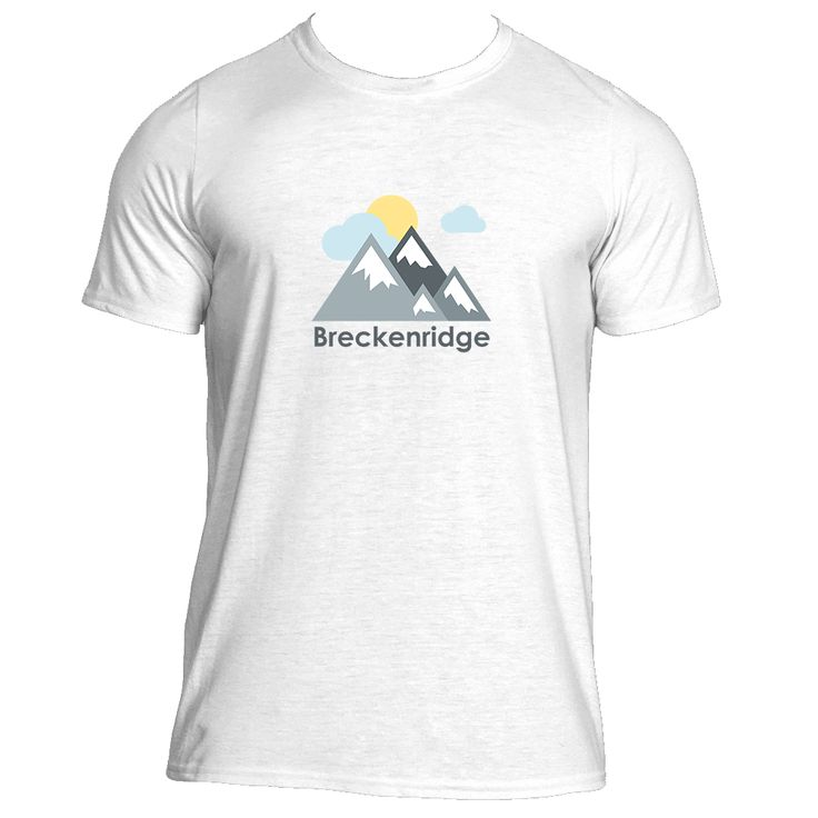 Breckenridge, Colorado Mountains and Clouds in Color - Men's Moisture Wicking T-Shirt