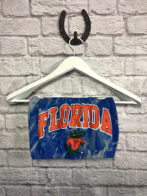 University Of Florida Gators T Shirt Tube Top Tailgate Etsy Tailgate Outfit Florida Gators T Shirt Game Day Shirts