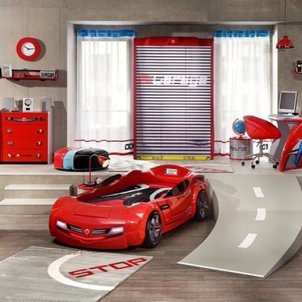 Awesome Race Car Themed Room Boys Carbed Boysroom Decor Design