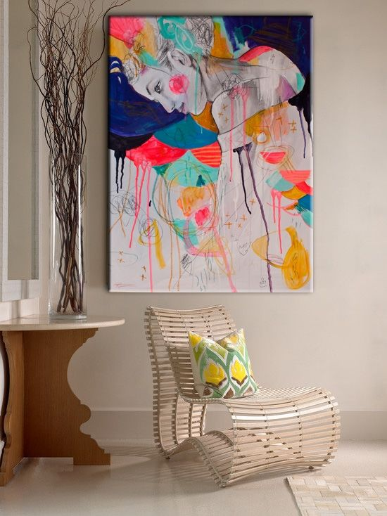 Interior Design Art 857 best art in the home images on pinterest | paintings, abstract