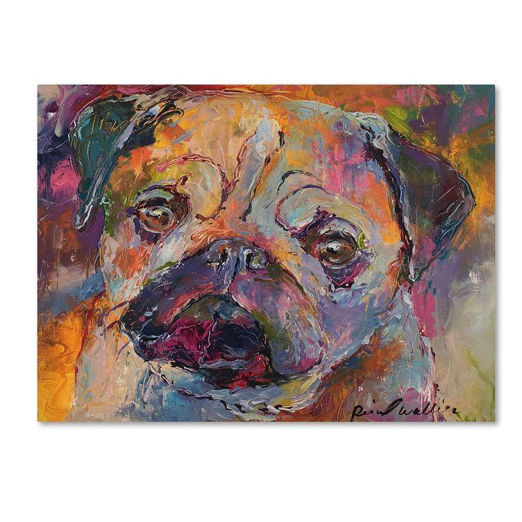Richard Wallich 'Art Pug' Canvas Art