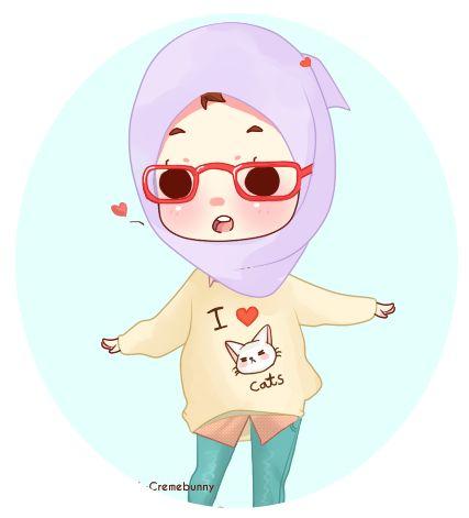 Muslima Chibi Character Drawing
