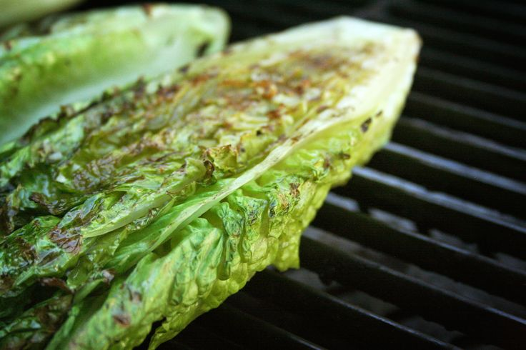 Raise the fucking bar and grill to impress:  Grilled Romaine Hearts with Avocado Lime Dressing