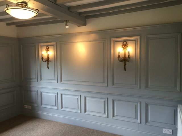 Panelled Wall In 2020 Wall Paneling Ideas Living Room Living Room Panelling White Paneling