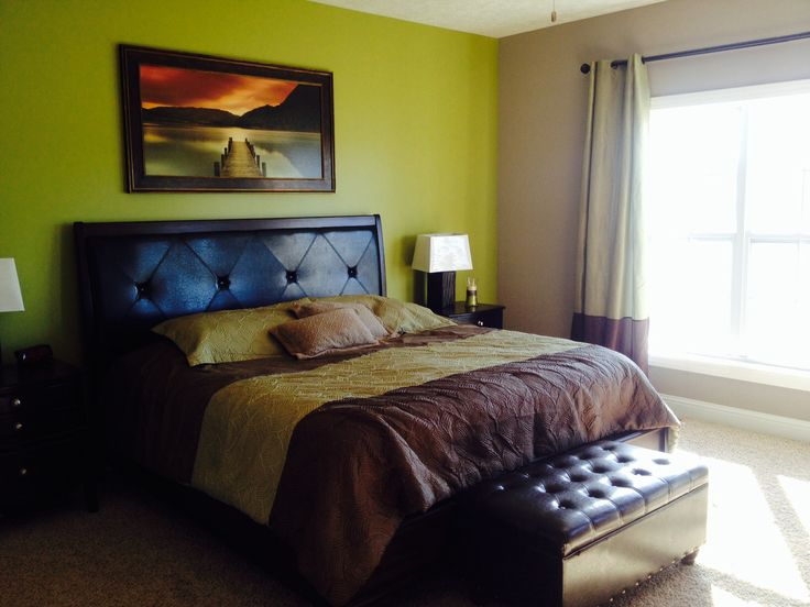 Green And Brown Master Bedroom Our New Home Pinterest Master Bedroom Bedrooms And Shoe