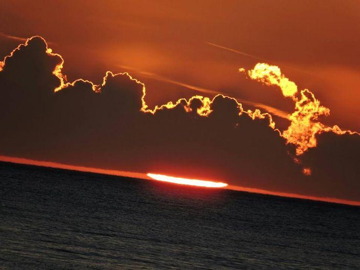 Foto del tramonto di ieri Dal Cipollazzo-Menfi foto Samantha Campo