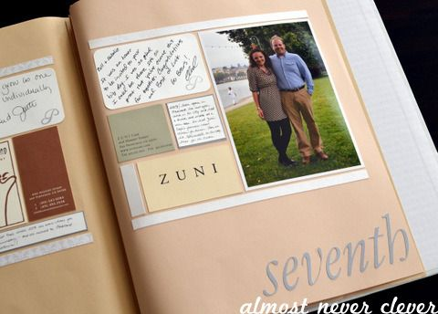 Scrapbook Layout Wedding 7th Anniversary