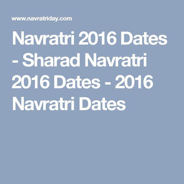 Navratri 2016 Dates - Sharad Navratri 2016 Dates - 2016 Navratri Dates