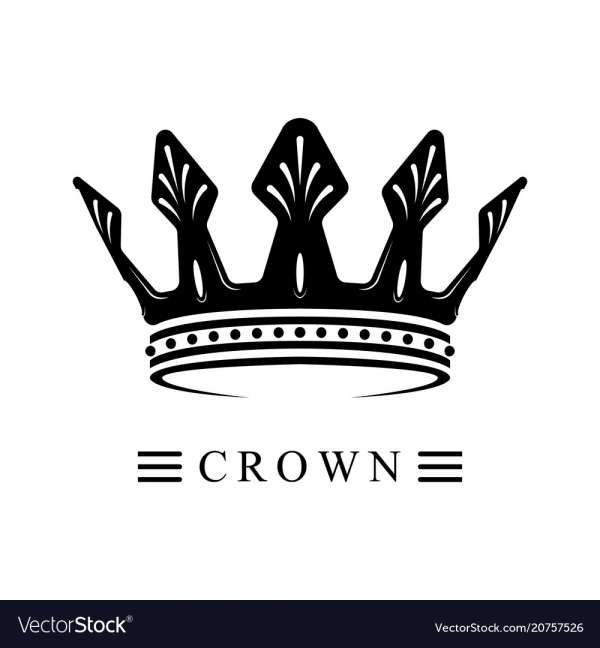 18 Black Crown Logo Desain Logo Desain Brosur Mahkota