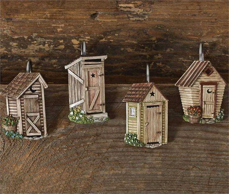 Outhouse Shower Curtain Hooks 598 65 In 2020 Outhouse Bathroom