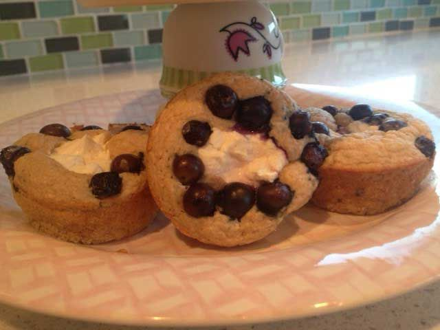 Guilt-Free Cream Cheese Blueberry Muffins
