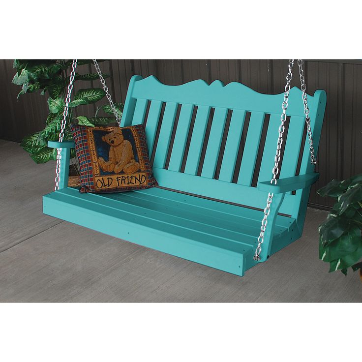A&L Furniture Company Royal English Recycled Plastic 4ft Porch Swing