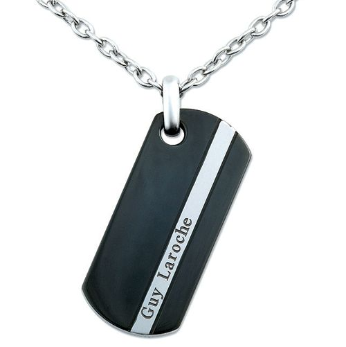 Guy Laroche's new Dog Tag style men's jewellery
