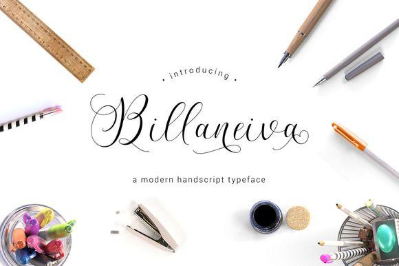 Billaneiva Typeface by thirtypath on @creativemarket