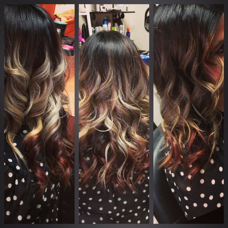 to RED #ombre: Killer Hairstyles, Hair Ideas, Hair Colorss, Ombre ...