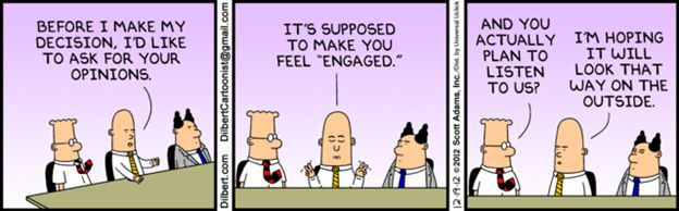 Megan Chambers EMPLOYEE ENGAGEMENT MISTAKES AND HOW TO FIX THEM  Research into employee engagement has been around for decades. Despite this, leaders continue to do things that disengage their staff. This blog post looks at some common manager behaviours that lead to disengagement and gives examples of how a simple shift in perspective can help leaders view their actions in a new light and retain their people's valuable skills.