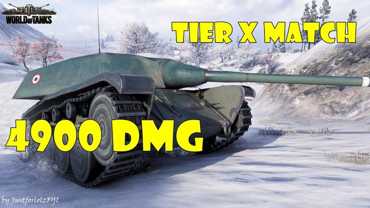 World of Tanks - PURE Gameplay [AMX CDC | 4900 DMG, TIER X by SirBeastalot]