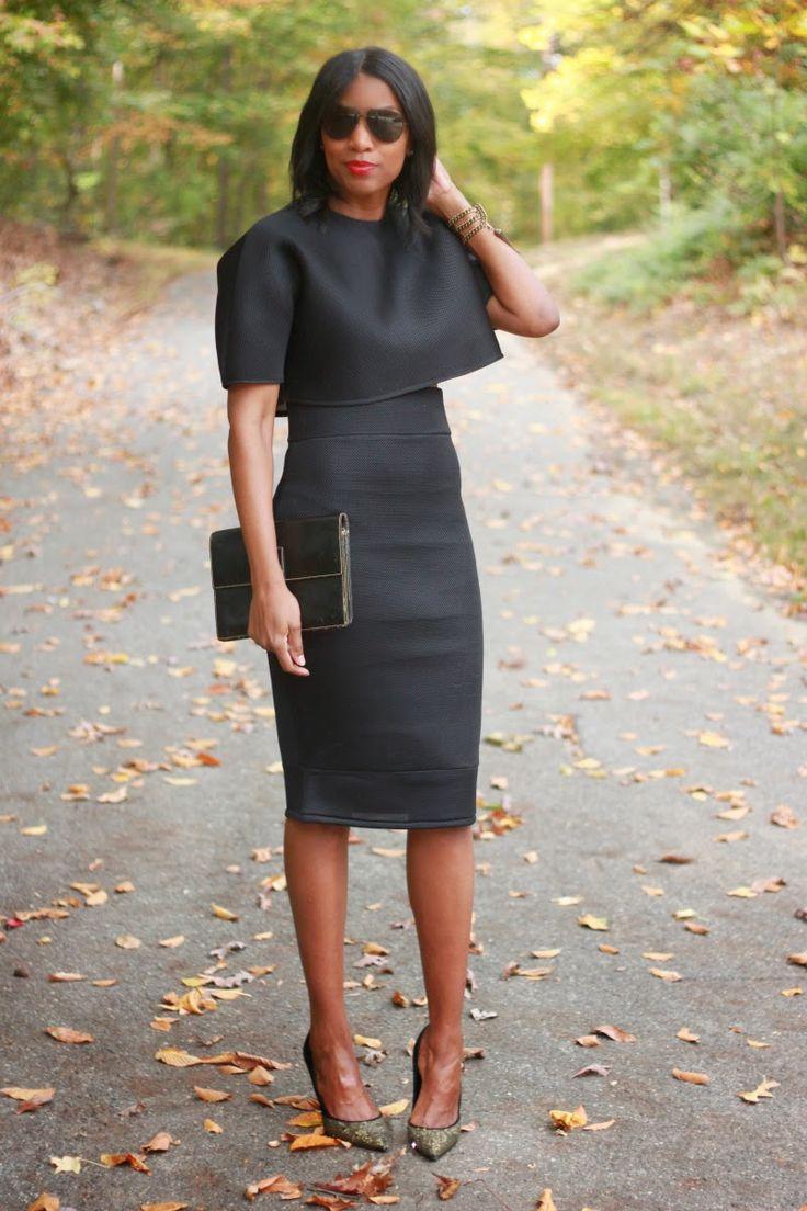DIY neoprene highwaist pencil skirt and crop top-Beaute' J'adore