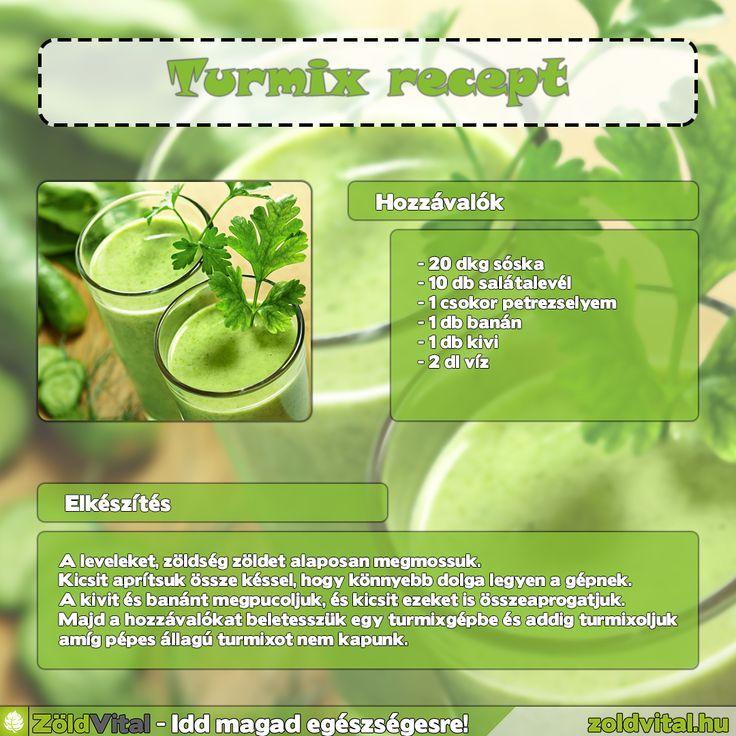 Készíts te is zöld turmixot! #recept #turmix